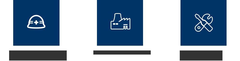 製造、施工からメンテナンスまでの一貫体制 ■自社工場による納期スピード ■創業昭和41年以来の熟練の職人の技術